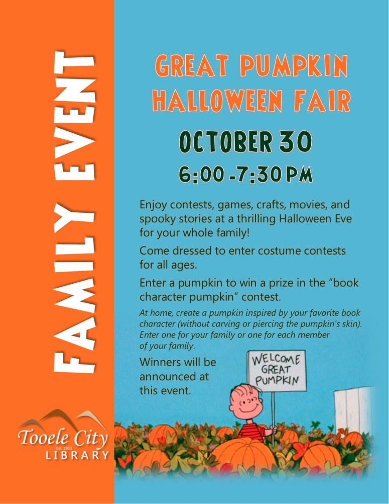 10 30 Family Event Great Pumpkin Halloween Fair
